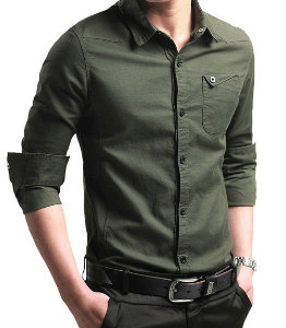 Manufacturer of Green Formal Men Shirt