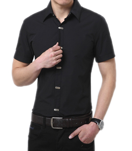 Wholesale Half Sleeve Black Shirt Manufacturer