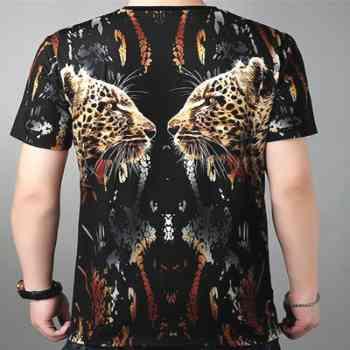 wholesale leopard 3d delusion t-shirts supplier