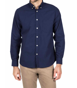 Wholesale Navy Blue Long Sleeve Shirt Manufacturer