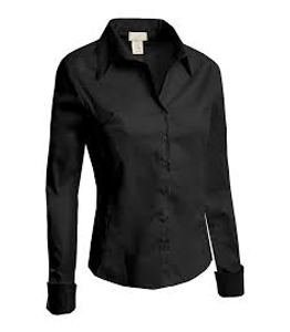Wholesale Plain Black Shirt Women Manufacturer