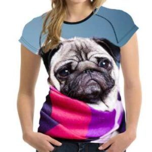 wholesale pug face 3d t-shirt manufacturer