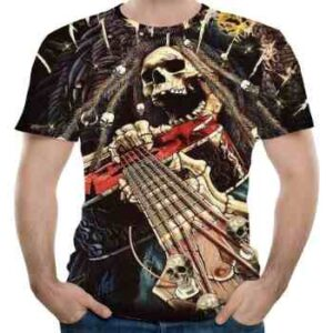 wholesale rock roll 3d t-shirt manufacturer