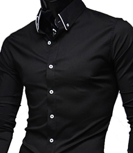 Wholesale Stylish Mens Black Shirt Manufacturer
