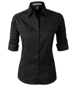 Wholesale Women Black Shirts Manufacturer