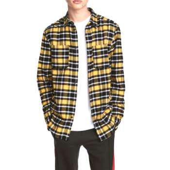 wholesale yellow black checked shirts