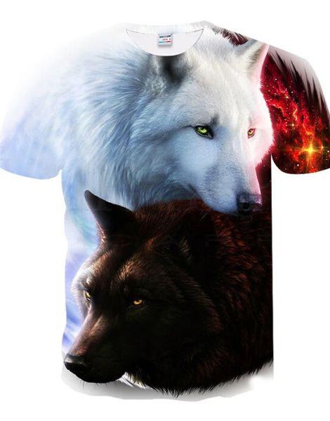 Bulk 3D Wolf Printed Tshirt