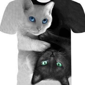 Bulk 3D Cat Printed Tshirt