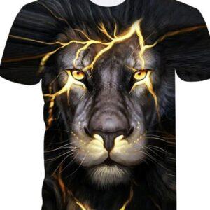 Bulk 3D Lion Printed Tshirt Manufacturers