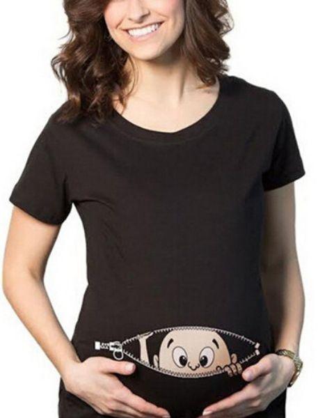 custom baby printed maternity tshirts