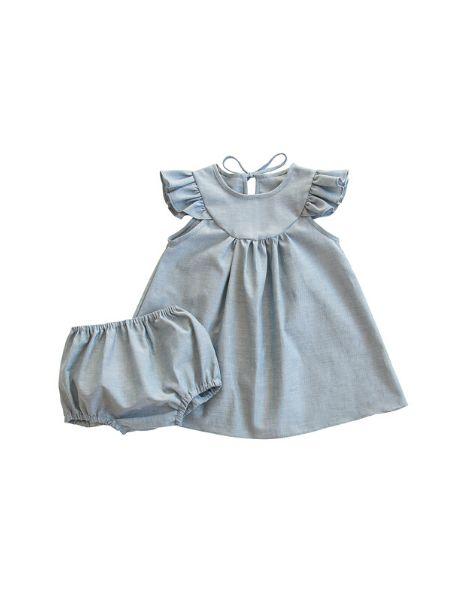 bulk little girls dress with bloomer sets